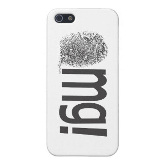 omg fingerprint text horizontal iPhone 5/5S cover