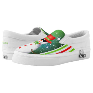 OMG! Funky Snowman Christmas Slip-On Shoes