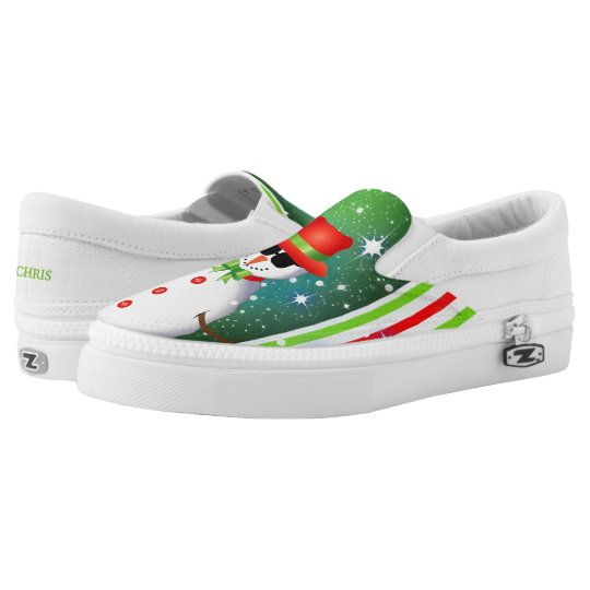 OMG! Funky Snowman Christmas Slip-On Shoes