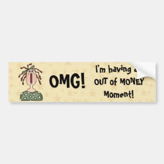 OMG! Funny Comic Girl Saying Bumper Sticker