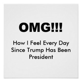 OMG!!! How I feel every day since Trump Poster