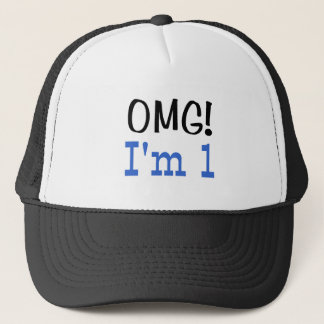 OMG I'm 1 (blue) Trucker Hat