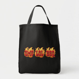 OMG LOL BBQ GROCERY TOTE BAG