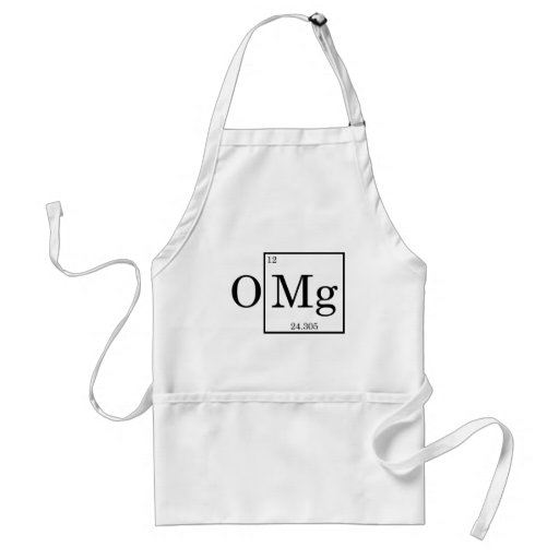 OMG - Magnesium - Mg - periodic table Aprons
