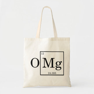 OMG - Magnesium - Mg - periodic table Canvas Bags