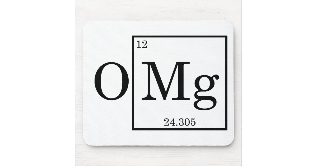 Omg magnesium mg periodic table mouse pad zazzle for Table a vi 6 2 of the stcw code