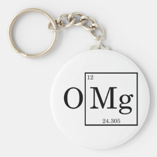 OMG Magnesium Science Chemistry Basic Round Button Key Ring