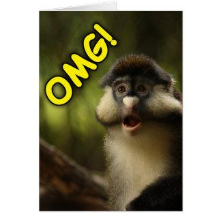 OMG Monkey Birthday Card
