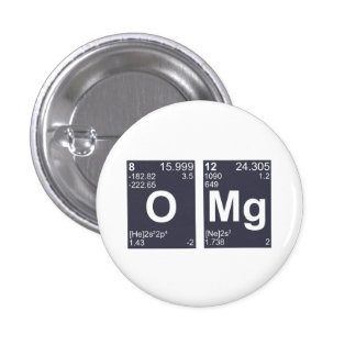 OMG Oh My God Periodic Table Elements 3 Cm Round Badge