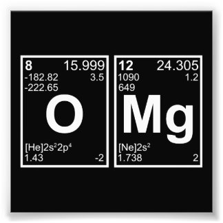 OMG Oh My God Periodic Table Elements Art Photo