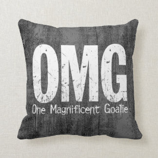 OMG: One Magnificent Goalie (Hockey) Cushion