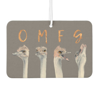 OMG Ostriches Car Air Freshener