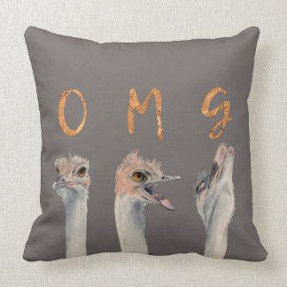 OMG Ostriches Cushion