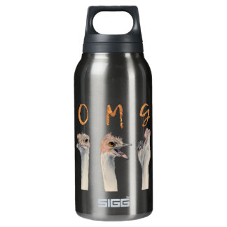 OMG Ostriches Insulated Water Bottle