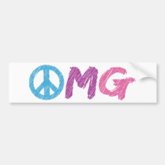 omg peace sign bumper stickers