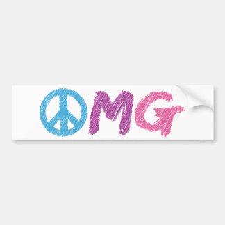 omg peace sign bumper stickers