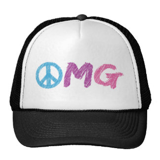 omg peace sign trucker hats