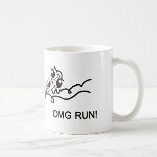 OMG run! - meme Basic White Mug