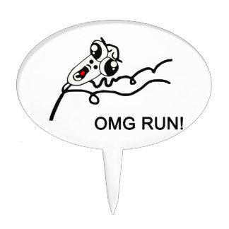 OMG run! - meme Cake Topper