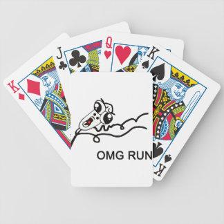 OMG run - meme Bicycle Card Decks