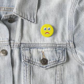 OMG Scared Emoji 3 Cm Round Badge