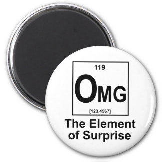 OMG The Element os Surprise 6 Cm Round Magnet