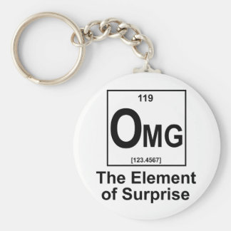 OMG The Element os Surprise Basic Round Button Key Ring
