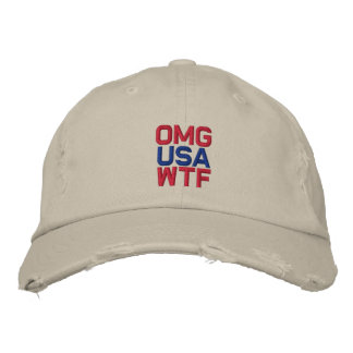 OMG USA WTF EMBROIDERED HAT