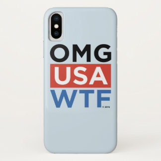 OMG USA WTF iPhone X CASE