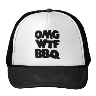 OMG WTF BBQ Barbeque Hats