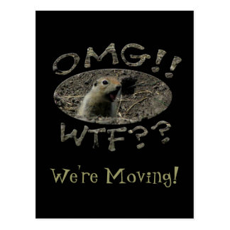 OMG WTF Gopher; Change of Address Postcard