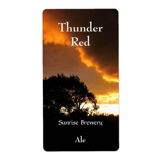 Ominous Sunset ~ beer label Shipping Label