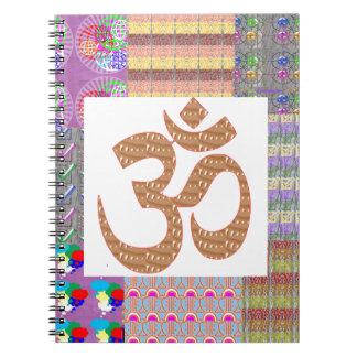 OmMantra Mantra Art Devotion NVN191 NavinJOSHI fun Spiral Note Book