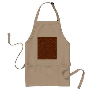 Omni dots manly brown burgundy pattern DOTS04 Standard Apron