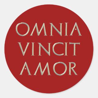 Omnia Vincit Amor Stickers