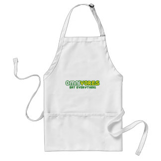Omnivores Eat Everything Parody Standard Apron