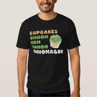 OMNOM Cupcakes T-shirts