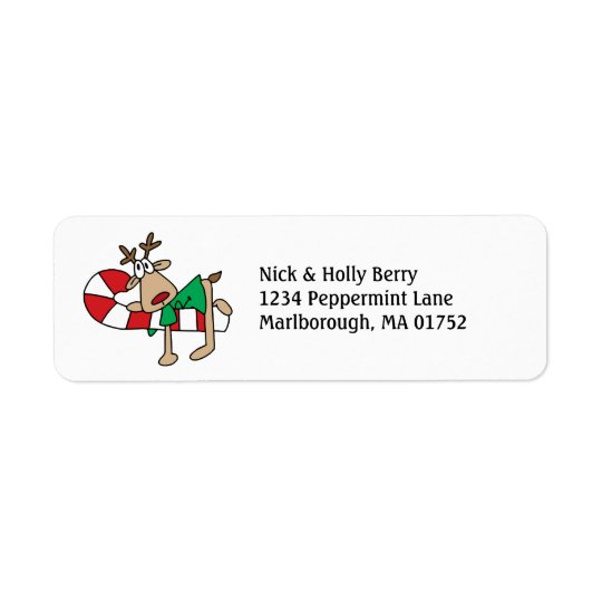 on a Candycane Return Address Label