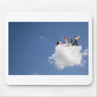on a cloud mouse pad