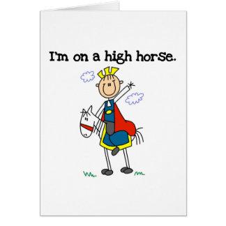 On a High Horse Card