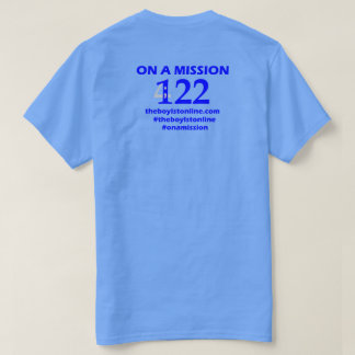 'On a Mission' T-shirt Blue Lettering