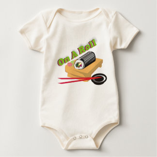On A Roll Baby Sushi Baby Bodysuit