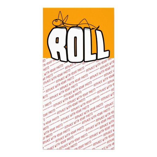 On a Roll Photo Card Template