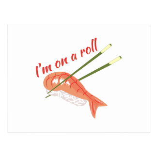 On A Roll Postcard