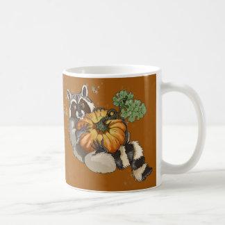 On a Roll Raccoon Pumpkin Autumn Coffee Mug