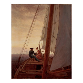 On a Sailing Ship Poster