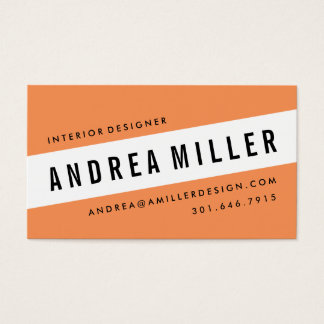 On A Slant Bold Graphic Business Card