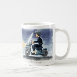 On a Vespa in Rome Coffee Mug