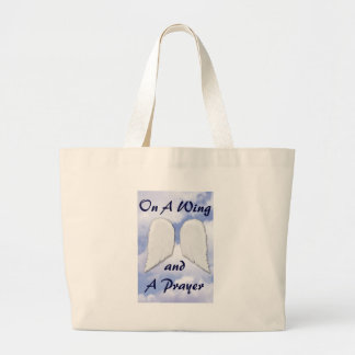 On a Wing & a Prayer Jumbo Tote Bag