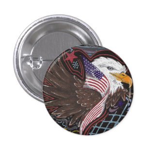 On American Wings Button